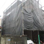 仮設足場の組み立て工事