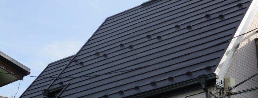 ガルバニウム鋼板へ屋根リフォーム工事