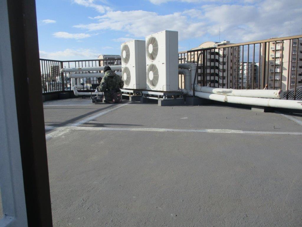 屋上の防水工事前