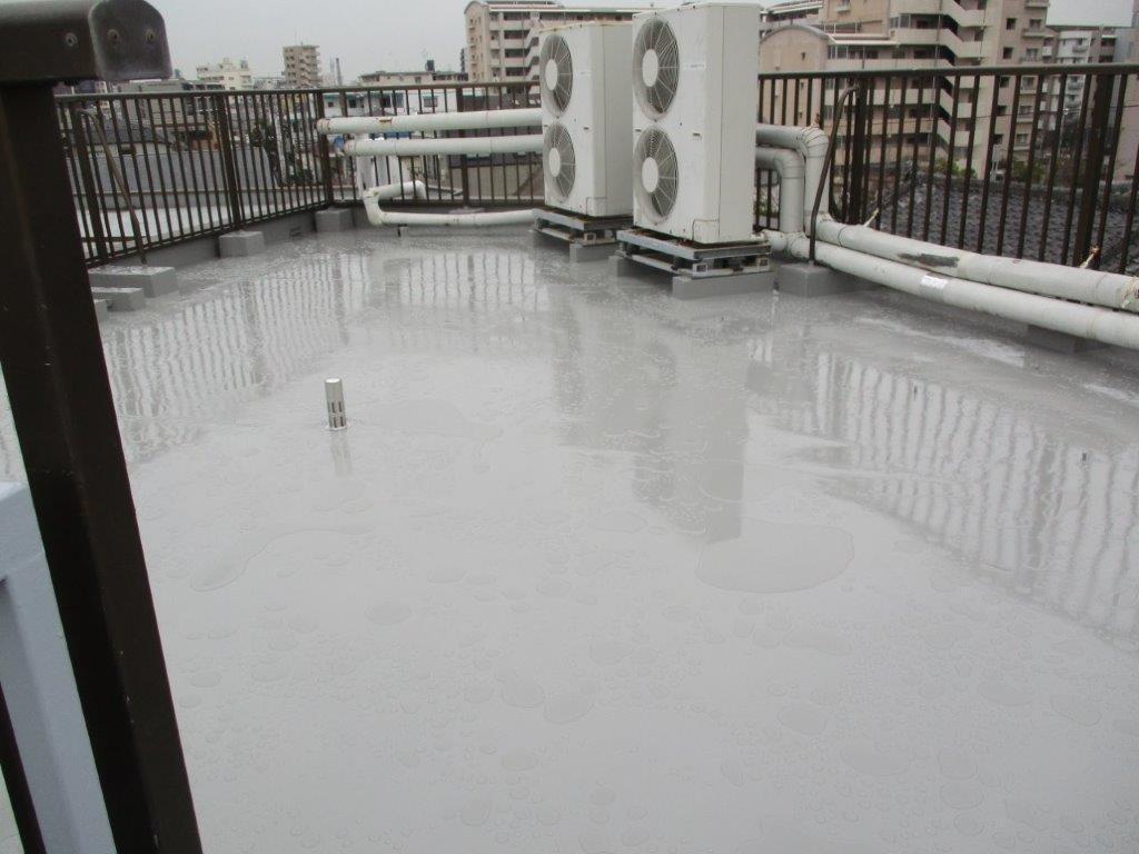 屋上の防水工事後