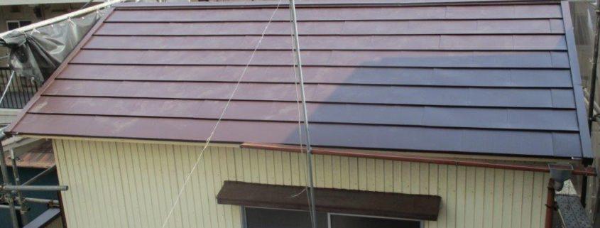 ガルバニウム鋼板の設置