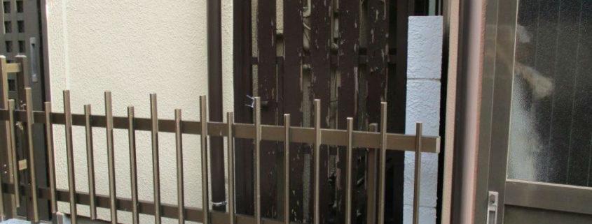 木製の柵・面格子をアルミ製に変更